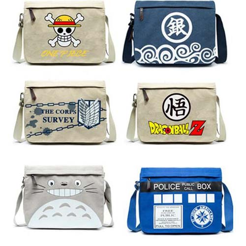 Anime One Piece Gin Tama Tonari No Totoro Cosplay Messenger Bag